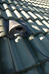 Feedline roof entry